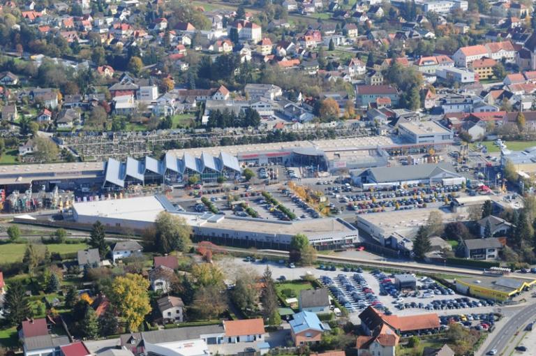 Vogelperspektive Lieb Markt mit dem GEZ